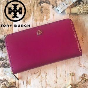 Tory Burch Robinson Zip Continental Wallet